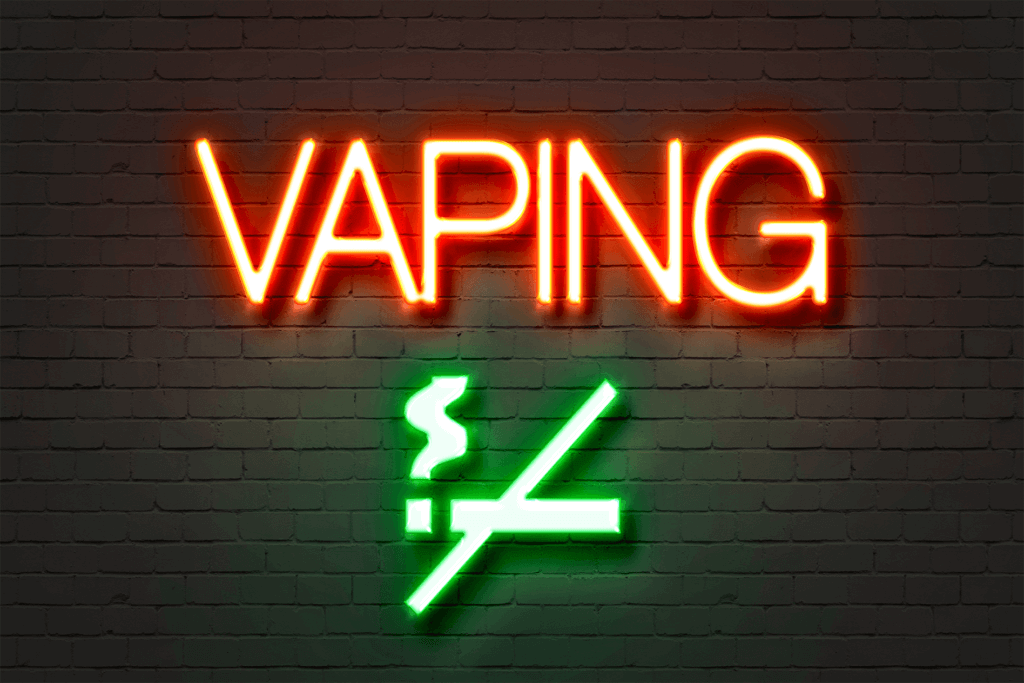 No Vaping neon sign